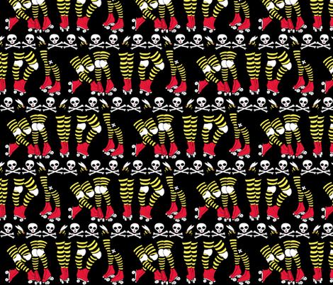 Roller Derby Stripe fabric by beesocks on Spoonflower - custom fabric