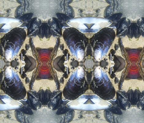 Seashells Kaleidoscope fabric by spiritahgraphy on Spoonflower - custom fabric