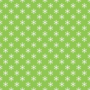 Retro Holly Jolly Green Snowflakes