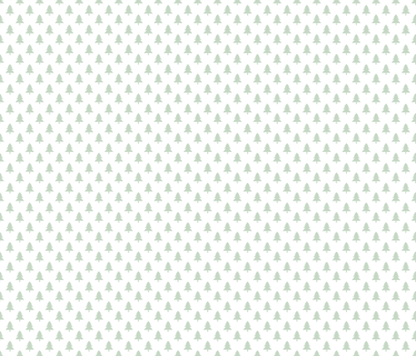 Holly Jolly Green and White Christmas Trees fabric by indelibleink on Spoonflower - custom fabric