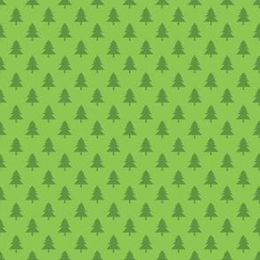 Holly Jolly Dark Green and  Light Green Christmas Trees