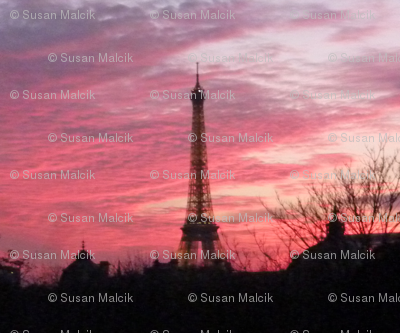 November Sunset with Eiffel Tower 2
