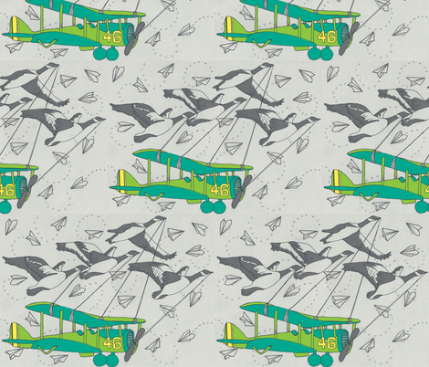 geese_paper_planes_0001-ch fabric by e_louise_ on Spoonflower - custom fabric