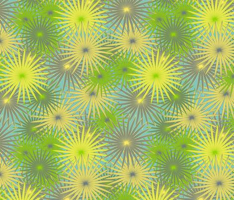 tropical fern fabric by kociara on Spoonflower - custom fabric