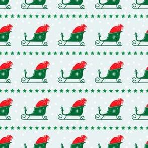 Retro Style Santa's Sleigh Christmas Pattern