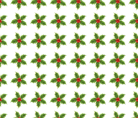 Holly Christmas Pattern  fabric by diane555 on Spoonflower - custom fabric