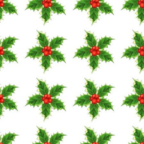 Holly Christmas Pattern