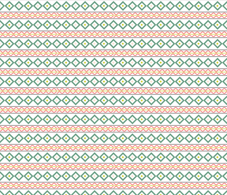 Retro Style Lines Christmas Pattern  fabric by diane555 on Spoonflower - custom fabric