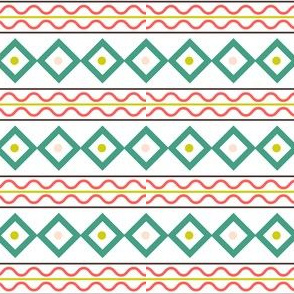 Retro Style Lines Christmas Pattern
