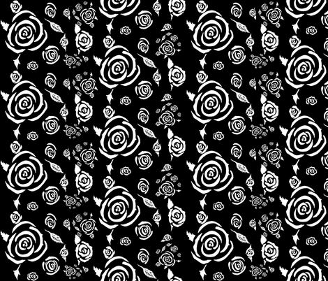 Roses All Over fabric by aftermyart on Spoonflower - custom fabric