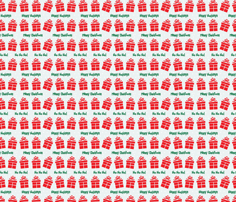 Retro Style Gifts Christmas Pattern fabric by diane555 on Spoonflower - custom fabric