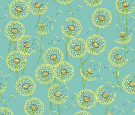 fanciful flight - make a dandelion wish! fabric by coggon_(roz_robinson) on Spoonflower - custom fabric