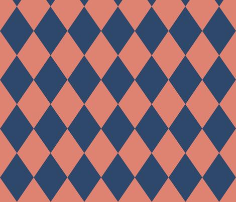 Nasher Matisse Companion Fabric_diamonds_bicolor fabric by kfrogb on Spoonflower - custom fabric