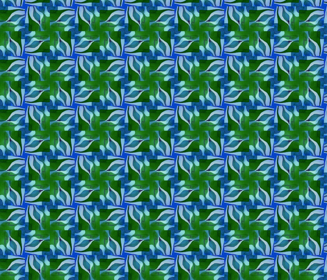 Nature Nurturing the Spark of Life, tile03 fabric by whimsikate on Spoonflower - custom fabric