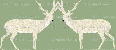 Christmas Deer - Light Sage