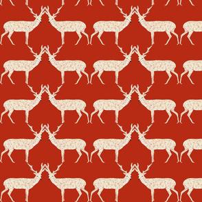Christmas Deer - Dark Red