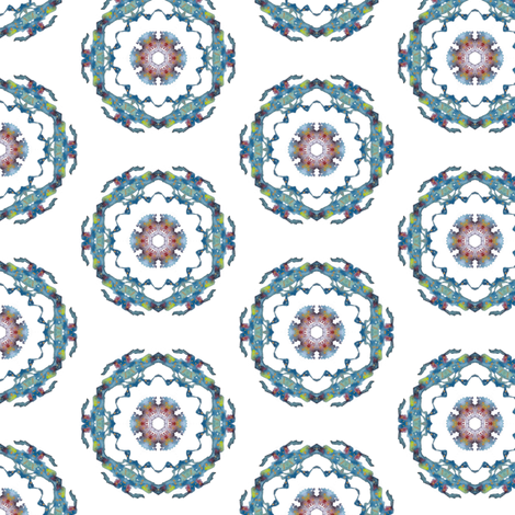 Blue Medallion fabric by whimsikate on Spoonflower - custom fabric