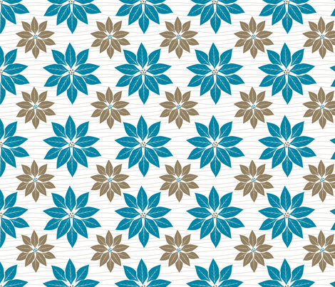 Cute Retro Poinsettia Christmas Pattern fabric by diane555 on Spoonflower - custom fabric