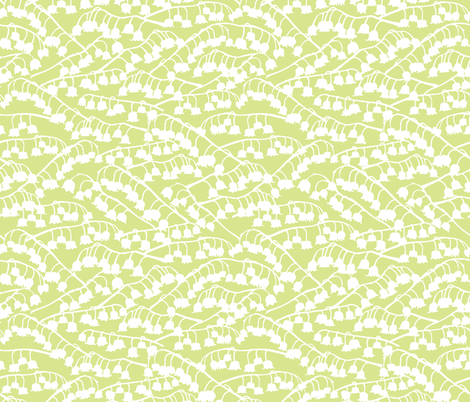 Lily of the Valley_Green fabric by katyclemmans on Spoonflower - custom fabric