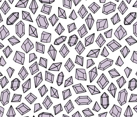 crystals // purple lilac crystal gems fabric girls gemstones fabric by andrea_lauren on Spoonflower - custom fabric