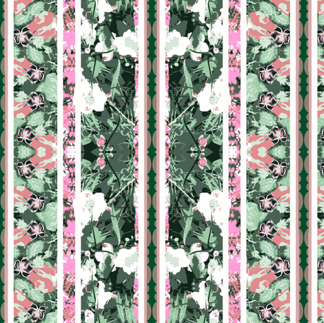 Sweet Floral Stripes fabric by robin_rice on Spoonflower - custom fabric