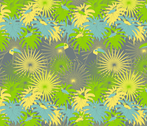 in the jungle fabric by kociara on Spoonflower - custom fabric