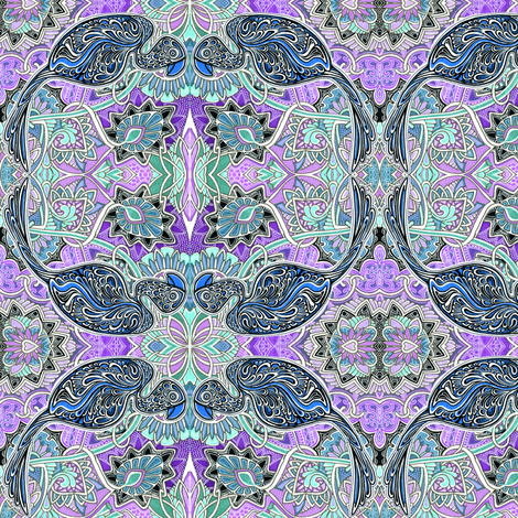 May The Bluebird of Happiness Not Drop Any on Your Head fabric by edsel2084 on Spoonflower - custom fabric