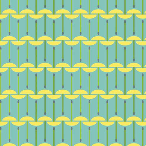 Geometric Dandelion Puffs fabric by mongiesama on Spoonflower - custom fabric