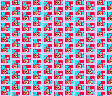 Owl Always XOXOX You! fabric by robin_rice on Spoonflower - custom fabric