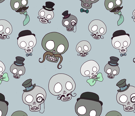 gentlemen skulls fabric by michelleadoran on Spoonflower - custom fabric