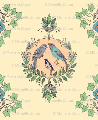 bird damask