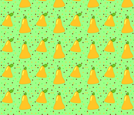 pairs of pears fabric by laurab23 on Spoonflower - custom fabric