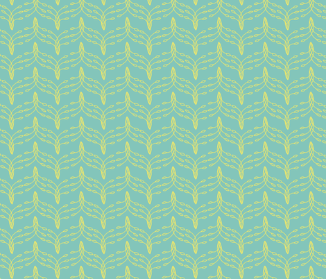 Tail Feathers-Teal fabric by holly_helgeson on Spoonflower - custom fabric