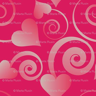 hearts and ribbons