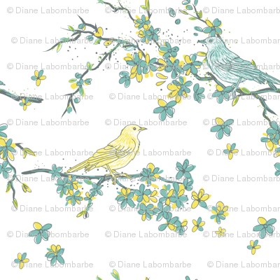 Spring Blossoms & Song Birds