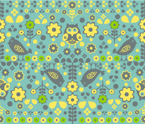 Flight of Love Birds fabric by jlwillustration on Spoonflower - custom fabric