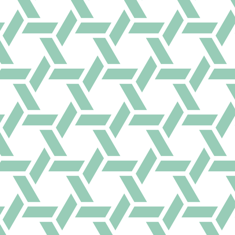 kagome thick in jade fabric by chantae on Spoonflower - custom fabric