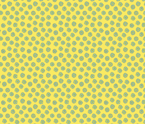 Flower Ditsy - yellow fabric by holly_helgeson on Spoonflower - custom fabric