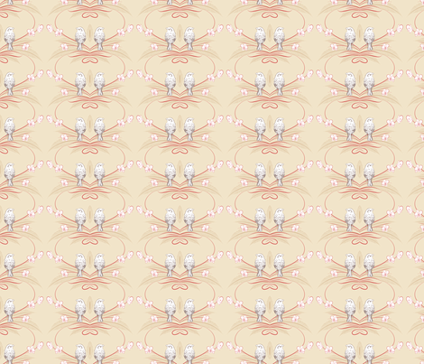 Orchids and Sparrows fabric by diane555 on Spoonflower - custom fabric