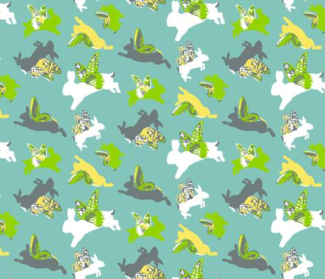 Flying_Byrd_Bunnies fabric by dusty_pony_design on Spoonflower - custom fabric