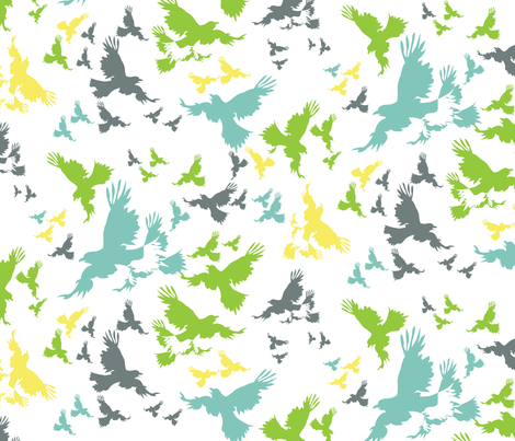 spirit_bird fabric by genebrown on Spoonflower - custom fabric