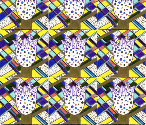 Polk_A_Dot_Tulip_1 fabric by pink_finch on Spoonflower - custom fabric