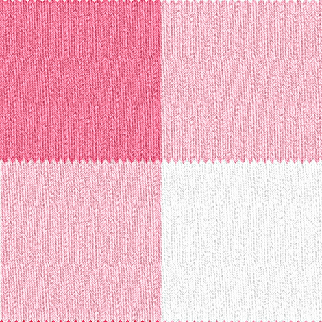 Gingham ~Think Pink! ~ Faux Knit fabric by peacoquettedesigns on Spoonflower - custom fabric