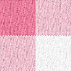 Gingham ~Think Pink! ~ Faux Knit
