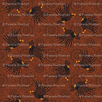 fancy flight  black birds