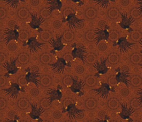 fancy flight  black birds fabric by glimmericks on Spoonflower - custom fabric