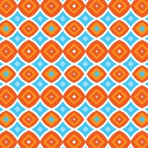 Orange and Blue Geometric