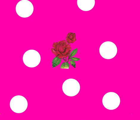 Magenta_Milk_Dotty_Rose fabric by katy_dee on Spoonflower - custom fabric