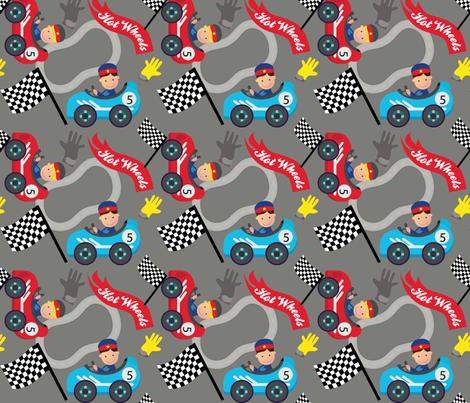 Hot Wheels Cute Car Racer fabric by karigari on Spoonflower - custom fabric