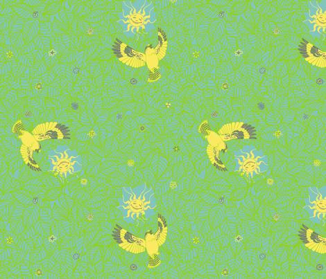 Laughing Kookaburra  fabric by tallulahdahling on Spoonflower - custom fabric